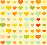 Heart pattern, vector seamless background.