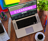 E-Learning. Online Working Concept.