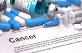 Cancer Diagnosis. Medical Concept. Composition of Medicaments.