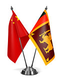 China and Sri Lanka - Miniature Flags.