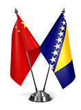China, Bosnia and Herzegovina - Miniature Flags.