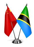 China and Tanzania - Miniature Flags.
