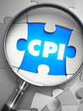 CPI - Puzzle with Missing Piece through Loupe.