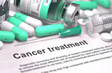 Cancer Treatment. Medical Concept.