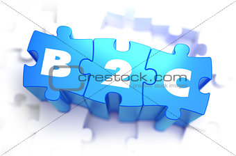 B2C - White Word on Blue Puzzles.