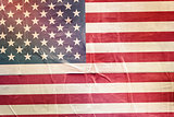 USA Flag Print on Grunge Poster Paper