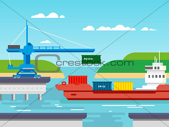 Cargo Freight Shipping by Water