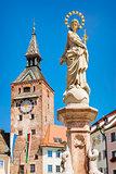 Schmalzturm with Mary fountain
