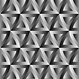 Optical illusion with triangles