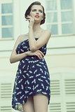 summer girl in outdoor shoot