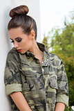 girl with military urban style