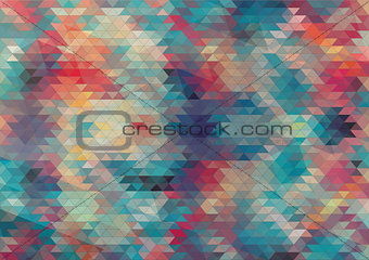 flat design geometric colorful background