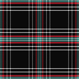 vector seamless pattern Scottish tartan black