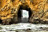 big stone hole at pfeiffer beach