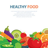 healthy and clean food concept flat design
