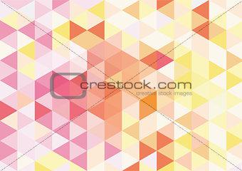 Flat orange mosaic background