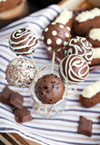 Homemade chocolate cake pops