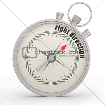 Right direction compass