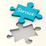 Service blue puzzle