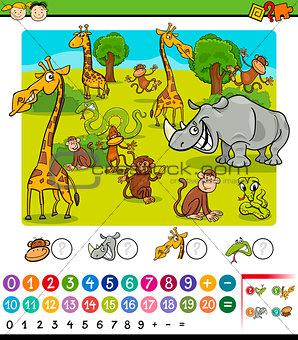 calculating animals cartoon game