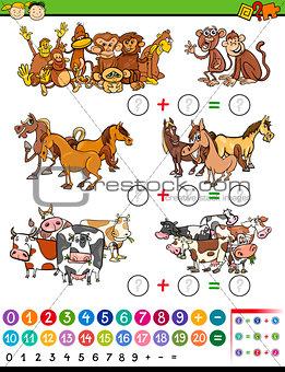 math game cartoon illustration