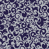 Abstract seamless pattern in grey and violet colors.
