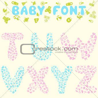 Baby font design