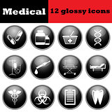 Set of medical glossy icons