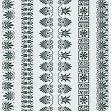 vector set Greek ornament Meander border