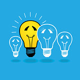 lightbulb family concept - vector illustration