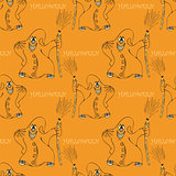 halloween seamless pattern  with ghost
