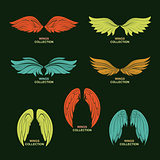 Wing set, stylized wings