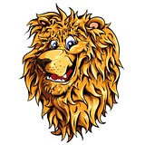 Lion head vector illustration.