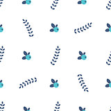 clean simple leafs berrys pattern