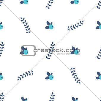 clean simple leafs berrys pattern