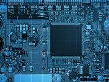 Blue motherboard