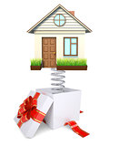 Gift box with house
