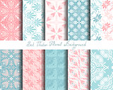 vector set seamless floral ornament