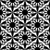 Floral seamless pattern black color