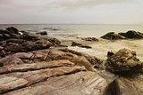 island with rocks