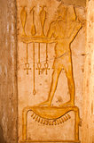 Ancient hieroglyphs carved in stone, Queen Hatshepsut temple,