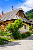 Traditional folklore house in old village Vlkolinec, Slovakia