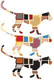 Leopard mosaics