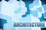 Architecture on Futuristic Abstract