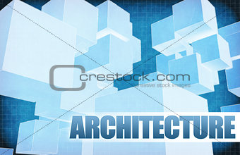 Architecture on Futuristic Abstract