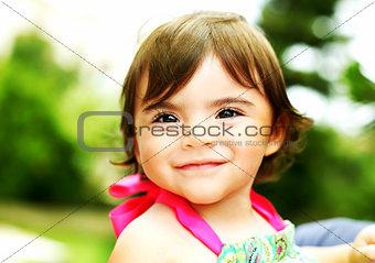 Little girl closeup portrait