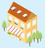 Vector 3d Flat Isometric House