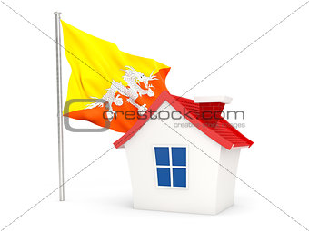House with flag of bhutan