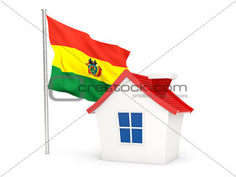 House with flag of bolivia