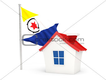 House with flag of bonaire